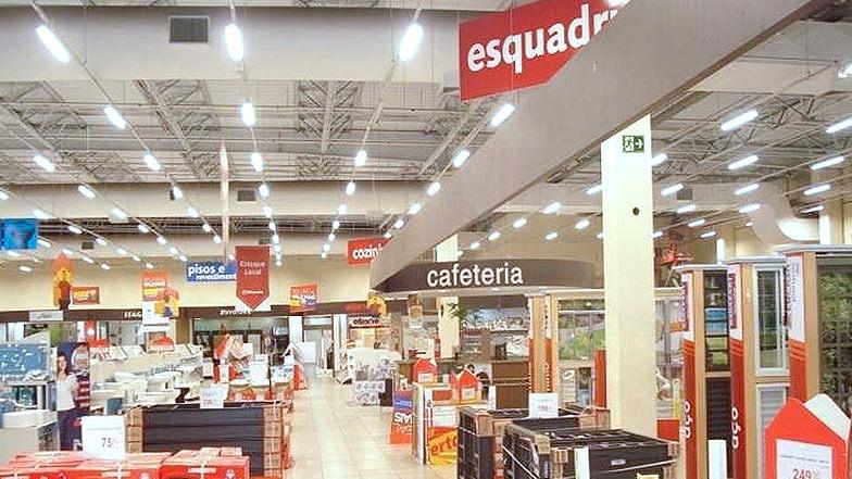 Telhanorte - infraestrutura para iluminação e Retrofit geral da loja Tamboré.